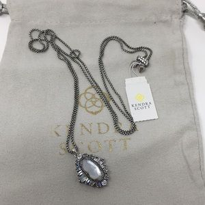 Kendra Scott Kay Necklace Antique Silver NWT